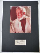 Alec Guinness Signed 8x12 Star Wars Autograph Matted Inperson Look