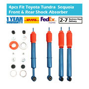 4x Front Rear High Performance Shock Absorbers Fit For Toyota Tundra Sequoia