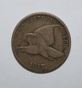 1857 Flying Eagle Cent  Fs003 Clash Seated 504  Xj16