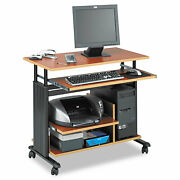 Safco Adjustable Height Mini-tower Workstation 35-1/2 X 22d X 34h Cherry/black