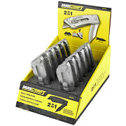 12 Pack Lot 2-in-1 Utility Knife Quick Change Razor Blade Serrated Edge Maxcraft