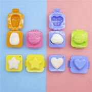 10x Diy Chef Rice Ball Mould Cartoon Sushi Maker Rice Roll Mold Boiled Egg Mold