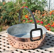 Ruffoni Copper 6 Qt Risotto Pan W/ Tin Lining And Forge Iron Handle, Made In Italy
