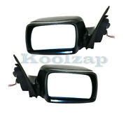 00-02 X5 Rear View Mirror Assembly Power Heat W/memory And Puddle Lamp Set Pair