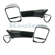 12-13 Ram 1500 Rear View Tow Mirror Power Heated Memory W/puddle Lamp Set Pair