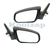 2010 Mustang Rear View Door Mirror Power W/2 Caps - Smooth And Textured Set Pair