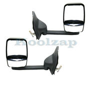 02-07 F-super Duty Long Arm Tow Mirror Power Heated With Signal Light Set Pair