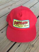 Fortyland Where The Fun Never Starts Hat Cap Truckers Baseball Style Red Rare
