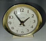 Vintage Westclox Baby Ben Alarm Clock Wind Up Ivory Made In Usa Tested 58056