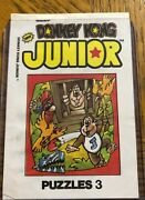 Vintage Donkey Kong Junior Puzzles - Rare - First Edition - Cereal Box Item -andnbsp