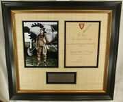 Charles Lindbergh And039and039historic Flight To Paris 1927and039and039 Signed Autograph Display Jsa