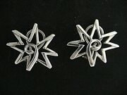 And Co. Paloma Picasso Sterling Silver Sun Clip On Earrings In Pouch And Box