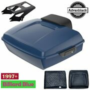 Chopped Tour Pack Billiard Blue W/ Blue Liner For 97+ Harley Davidson Touring