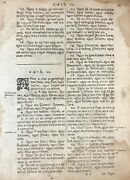 1685 Irish Bible Leaf - First Edition - Genesis 925-1121a - The Tower Of Babel