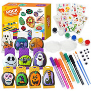 Rock Painting Kit47pcs Creative Gift6 Colors Acrylic Painter For Stone Paper