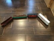 Four K-line Cars 1 Hopper, 1 Gondola, 1 Caboose, And 1 Flat Car. Boxes Included