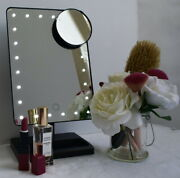 12 Inch Screen Makeup Mirror 24 Dimmable Leds And Close-up Vanity Lights Up Black