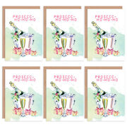 Christmas Cards X6 Prosecco Funny Booze Tipsy Coo Set Xmas Cards Xmpack002_cp