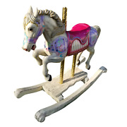 Vintage Sands Woodcarvers Diana Ross Hand Painted Carousel Rocking Horse Signed