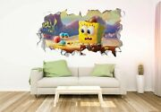 Spongebob And Gary Wall Decals Stickers Mural Home Decor For Bedroom Art Jo182