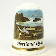 Collectable Bone China Thimble 'hartland Quay' Cornwall By G W Potteries