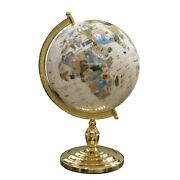 Mother Of Pearl 330mm Globe With 24k Gold-plated Metal Stand