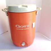 Gott Orange Drinking Water Cooler 5 Gallon 20l Capacity Lid And Spout Model 1685