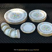 Royal Doulton Spring Glory H5061 Dinnerware 30 Pcs Misc Plates Cups Saucers