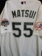 Hideki Matsui Signed 2003 All Star Jersey Japanese And English+ball 1 Of-a-kind