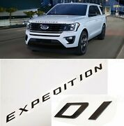 Gloss Black Front Hood Expedition Letters Emblem Fit 2018-2020 Ford Expedition