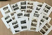 German Ww2 House Clearance 52x Postcards, Cherbourg, Boulogne, Ostende, Brussels