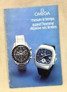 Omega Speedmaster 321 Chronograph Instructions Manual Brochure Booklet French /