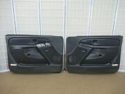 88-94 Buick Regal Gran Sport Coupe Gray And Woodgrain Left And Right Door Panel Set