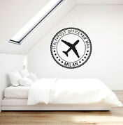 Vinyl Wall Decal Post Stamp Italy Air Mail Bedroom Living Room Stickers Ig6092