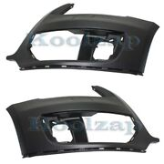 09-12 Q5 Without S-line Package Front Bumper Cover Assembly Left Right Set Pair
