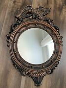 Dart Eagle Federal Style Flat Round Mirror 4007 A Vintage Coppercraft Guild