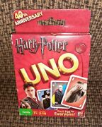 Harry Potter Uno Card Game 40th Anniversary 2010 Mattel New