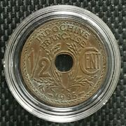 1935 Indo-china Francaise 1/2 Cent Coin Ø 22mm+free1 Coin10119
