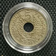 1938 Indo-china Republique Francaise 5 Cent Coin Ø 24mm+free1 Coin10120