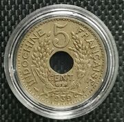 1939 Indo-china Republique Francaise 5 Cent Coin Ø 24mm+free1 Coin10121