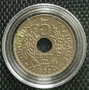1939 Indo-china Republique Francaise 5 Cent Coin Ø 24mm+free1 Coin10122