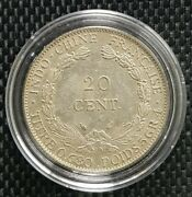 1937 Indo-china Republique Francaise 20 Cent Coin Ø 26mm+free1 Coin10127