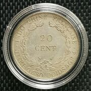 1937 Indo-china Republique Francaise 20 Cent Coin Ø 26mm+free1 Coin10129