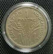 1947 Indochinoise Union Francaise 1 Piastre Coin Ø 34mm+free1 Coin10131