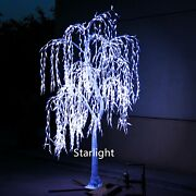 7ft White Led Christmas Tree With Simulation Natural Trunk Willow Tree Light