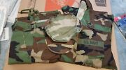 Marine Navy Army Working Uniform Woodland Camo - Top Bottom And 8pt Cover Mr