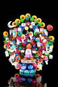 Mexican Toys Clay Tree Of Life Hand Crafted In Metepec Mexico