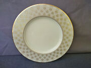 Lenox Jacquard Gold 9 3/8 Luncheon/accent Plate - Made In Usa - Dishwasher Safe