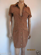 Current Elliott The Trucker Suede Calf Leather Shirt Dress Size 1 / S Nwt 998