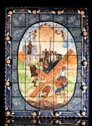 Mexican Retablo St Peter Crucifixion Clay And Wood Wall Hanging